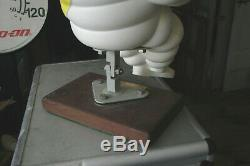 17 michelin man vintage on wood base 80s from MICHELIN 20 yr service award