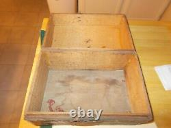 1800s Primitive Hand Painted French Brides Box With Note From Normandy France