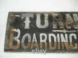 1800s TURNER'S BOARDING HOUSE HAND-PAINTED WOOD SIGN from Yanceyville, NC estate