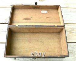 1853 Antique Hand Made Wood Storage Box from Grandson of President John Q Adams