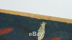 1859 Pinwheels Blue Red Flax Scutching Knife From Sweden Swedish Scandinavian
