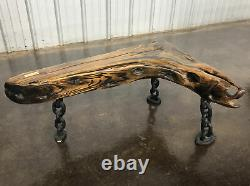 1884 Shipwreck Furniture Bench Chain Wood From Chandler J Wells Whiskey Island