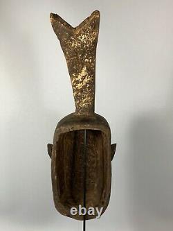 190307 Large Old Tribal Used African Mask from the Gurunsi Burkina Faso