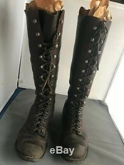 1918-1919 Original riding boots from Harley Davidson JD wood track era