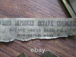 194 Brass Pump Organ Reeds From 1 Organ Munroe Reed Co Woods Octave Coupler