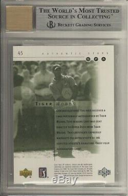 2001 Tiger Woods SP Authentic #45 /900 RC BGS 9 10 Auto & Centering. 5 from GEM