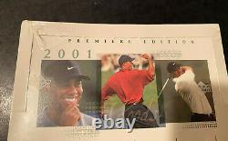 2001 Upper Deck Golf Box (1) Factory Sealed From Case Tiger Woods Rookie! WoW