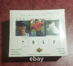 2001 Upper Deck Golf Box Factory Sealed From Case Tiger Woods Rookie Year