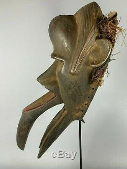 200102 Old Tribal Used African Burying mask from the Dan Kran Liberia