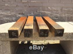 4 Antique Painted Butcher Block Table Legs From The Collection Of Fellenz
