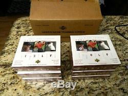 6 sealed boxes fresh from case 2001 Upper Deck UD Golf BOX Tiger Woods Rookie