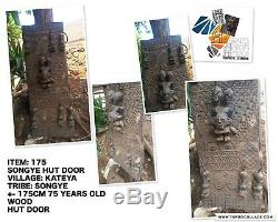 75 years old Songye Hut door Statue from Congo Garanteed authentic #175