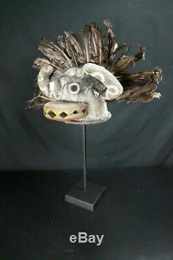 96# From Early To Mid 20th Century Kachina Leather Mask/HELMET Hopi