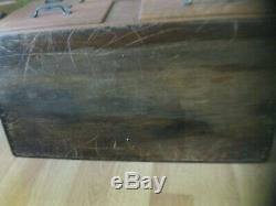 ANTIQUE 1924 ALL ORIGINAL TIGER OAK WOOD 5 DRAWER FILE CABINET from DETROIT MI