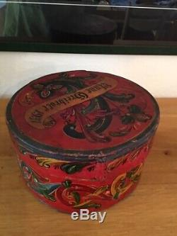 ANTIQUE NORWEGIAN WOODEN TINE ORIG. PAINT From SETESDAL Norway 1931 ROSEMALING