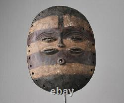 African wooden tribal mask from BEMBE tribe ethnic mask DRC Congo 2953