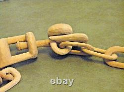 Amazing 39 Hand Carved Wooden Chain Carved From 1 Piece Of Wood With No Breaks