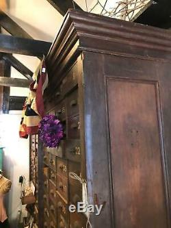 Anitique Apothecary Cabinet- Huge 112 Drawers From Old Cigar Shop 1800's