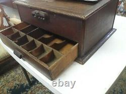 Antique 1901 Hough Wood Cash Register. From Hook's Drug Store Ste Genevieve Mo