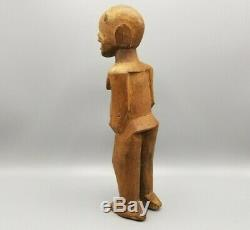 Antique African Fetish Figure Statue Carved Wood Effigy Doll From NYC Gallery