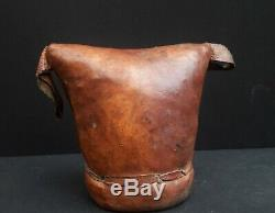 Antique African Headrest made from leather Gurage Ethiopia East Africa 19Th C