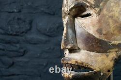 Antique African Ibo / Igbo Tribal Helmet Mask from SE Nigeria Agbogho Mmwo
