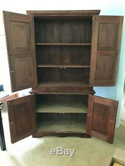Antique American Early Primitive Cupboard from Virginia, 19th century