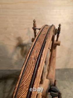 Antique American Spinning Wheel from early (Flax Wheel) 1800's Hand Made