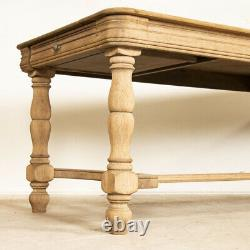 Antique Bleached Oak Dining Table from France Refectory Table