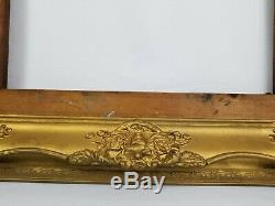 Antique Carved Wood Gilt Gesso Picture Frame Victorian From 1919 27 x 31