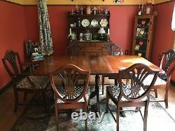 Antique Dining Room Table and Chairs from The Jake Tennenbaun Co, Ohio-Est. 1886