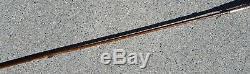 Antique Folk Art Brass Handle Walking Stick Cane made from Umbrella Parasol 36