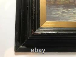 Antique Framed Painting From Europe Original Oil On Wood