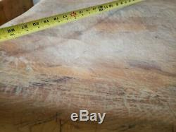 Antique Large Butcher Block 30x30x35 tall from a 100yr old Butcher Shop table