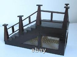 Antique Miniature or Model Stairway made from Wood Cigar Boxes
