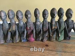 Antique Primitive Wooden Women Figures From Kathmandu Nepal