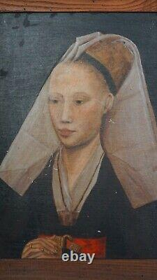 Antique Roger van der Weyden Old Master Oil Student painting early from 1900's