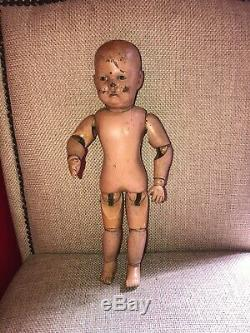 Antique Schoenhut Toddler Boy doll 13 13.5 inches tall From 1911