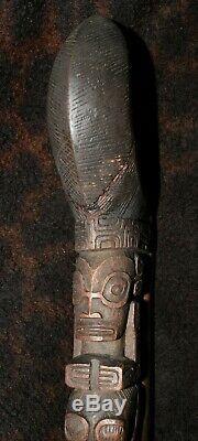 Antique Stilt Step from the Marquesas Islands 13 3/4 x 4 deep x 1 3/8 wide