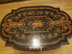 Antique Victorian Inlaid Parlor Table From Approx 1870's RARE FIND