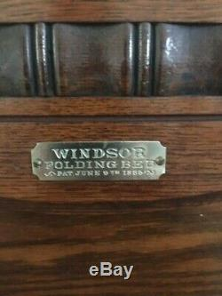 Antique Windsor Murphy Bed from 1885-fabulous condition