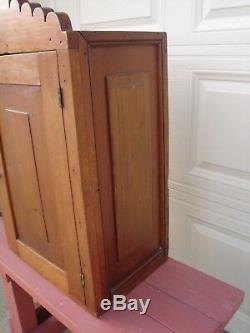 Antique Wood Cabinet Made From Springfield Hat Co. Springfield, Mo Shipping Crate