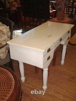 Antique Wood Desk from Wagon Train Days, Dove Tailed, Peg-Leg Shabby Look, RARE