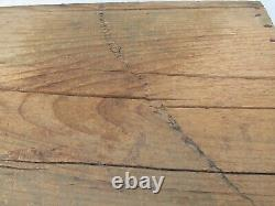 Antique Wood Domed Trunk made from a Shipping Crate for Matches Wall Paper Lined