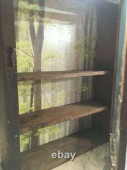 Antique Wood Hanging Wall Cabinet from Woodstock Vermont Farm House