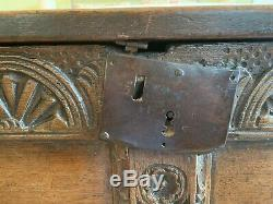 Antique Wood Linen Chest from the 1600s