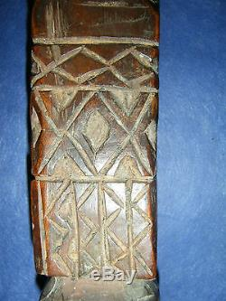 Antique main part from a spinning tool, Timor, Indonesia, no keris, ikat, #4