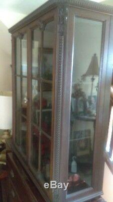Antique tabletop Cupboard, Primitive Storage Cabinet, can deliver from uShip. Com