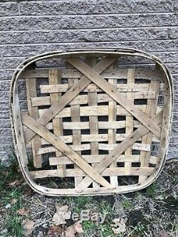 Authentic Antique Primitive Tobacco Basket From East TN Barn Real Not Remake
