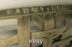 Authentic Antique Tobacco Basket From Farmville North Carolina